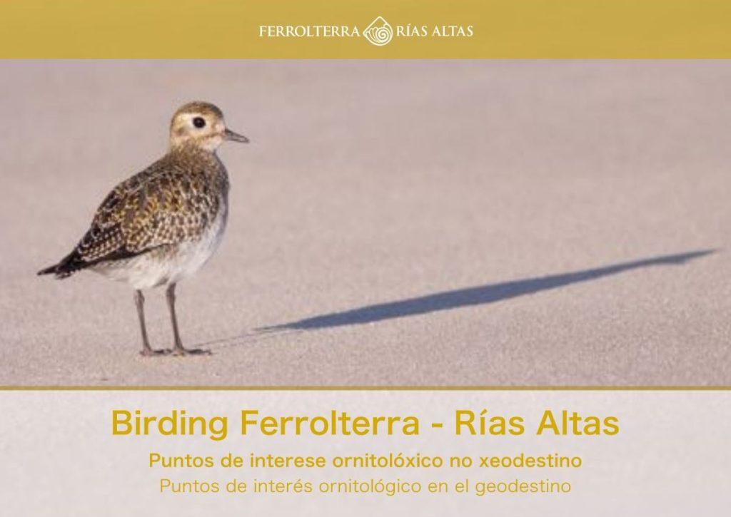 Portada guía birding Ferrolterra
