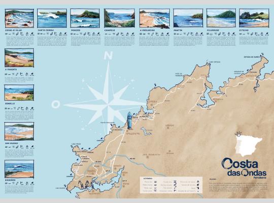 mapa costa das ondas